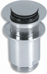 Drain plug for washbasin with overflow, chrome