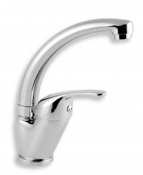 BASIN SINK MIXER TITANIA IRIS CHROME